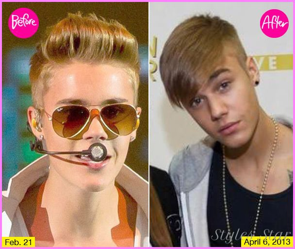 Justin Bieber Haircut Before And After Http Stylesstar Com Justin Bieber Haircut Html