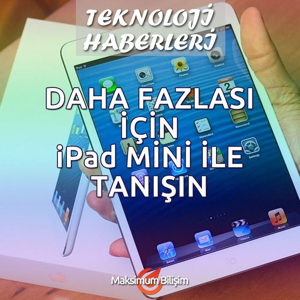 DAHA FAZLASI İÇİN İPAD MİNİ İLE TANIŞIN iPad mini küçük, hızlı ve inanılmaz derece yetenekli olacak şekilde tasarlandı. Gelişimin simgesi olarak yerini sağlamlaştırmaya devam ediyor. Touch ID ve iOS 8 gibi yenilikleri ve yeni altın rengiyle alternatiflerini güçlü tutan ipad mini iPad mini'de sevecek daha da fazla şey bulacaksınız. Devamı İçin >>> http://goo.gl/gzx3o3
