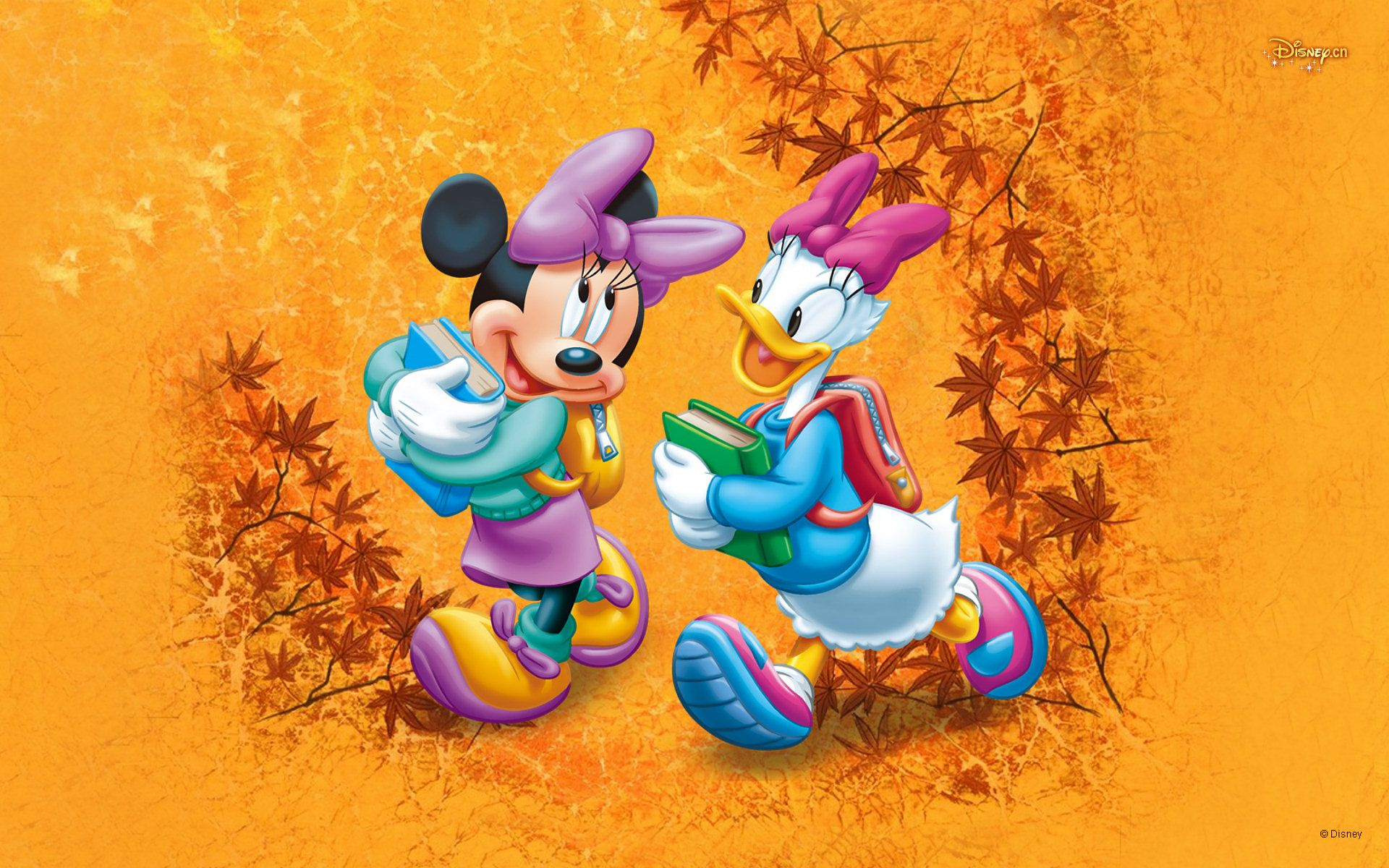 Cartoon Minnie Mouse & Daisy Duck Wallpaper (With images