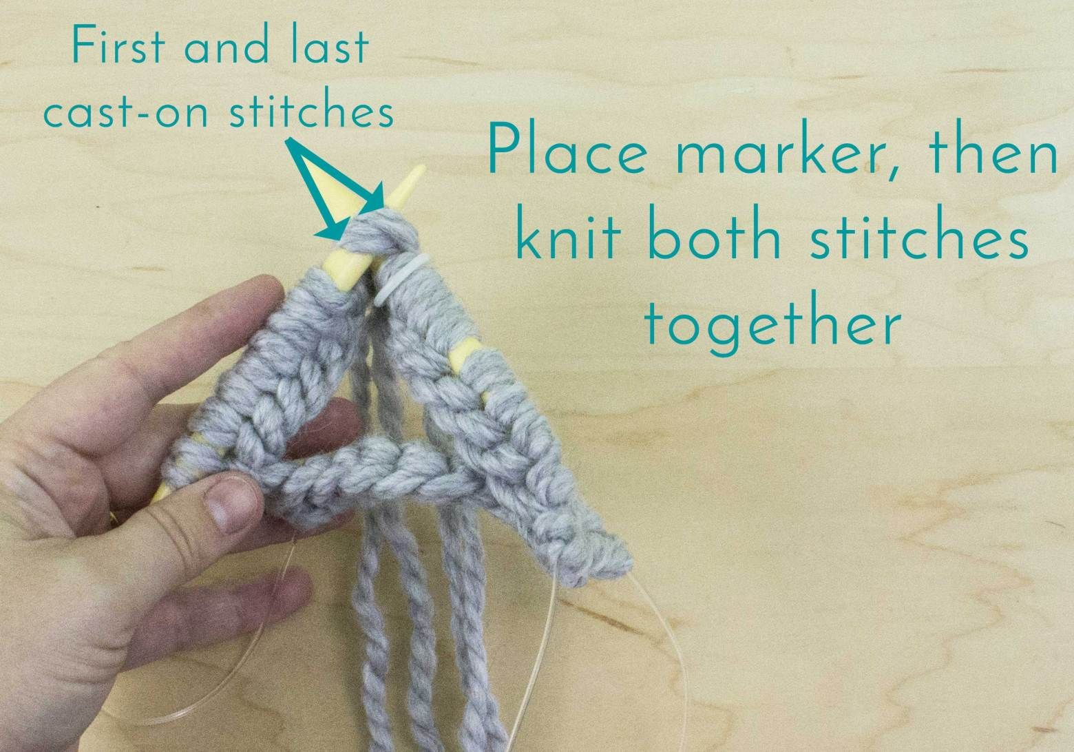 Circular knitting how to join in the round knitting