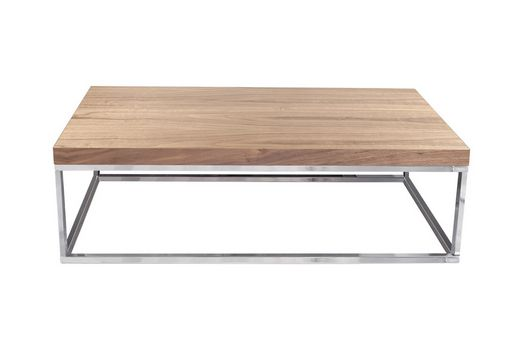 Mesa de centro moderna madera metal | Muebles Madrid, muebles ...