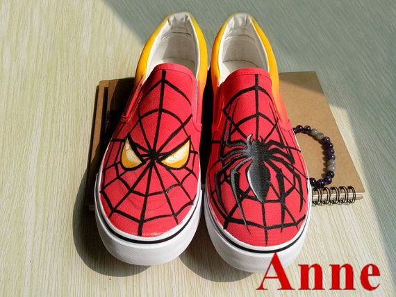 SpiderMan shoes painted canvas shoes