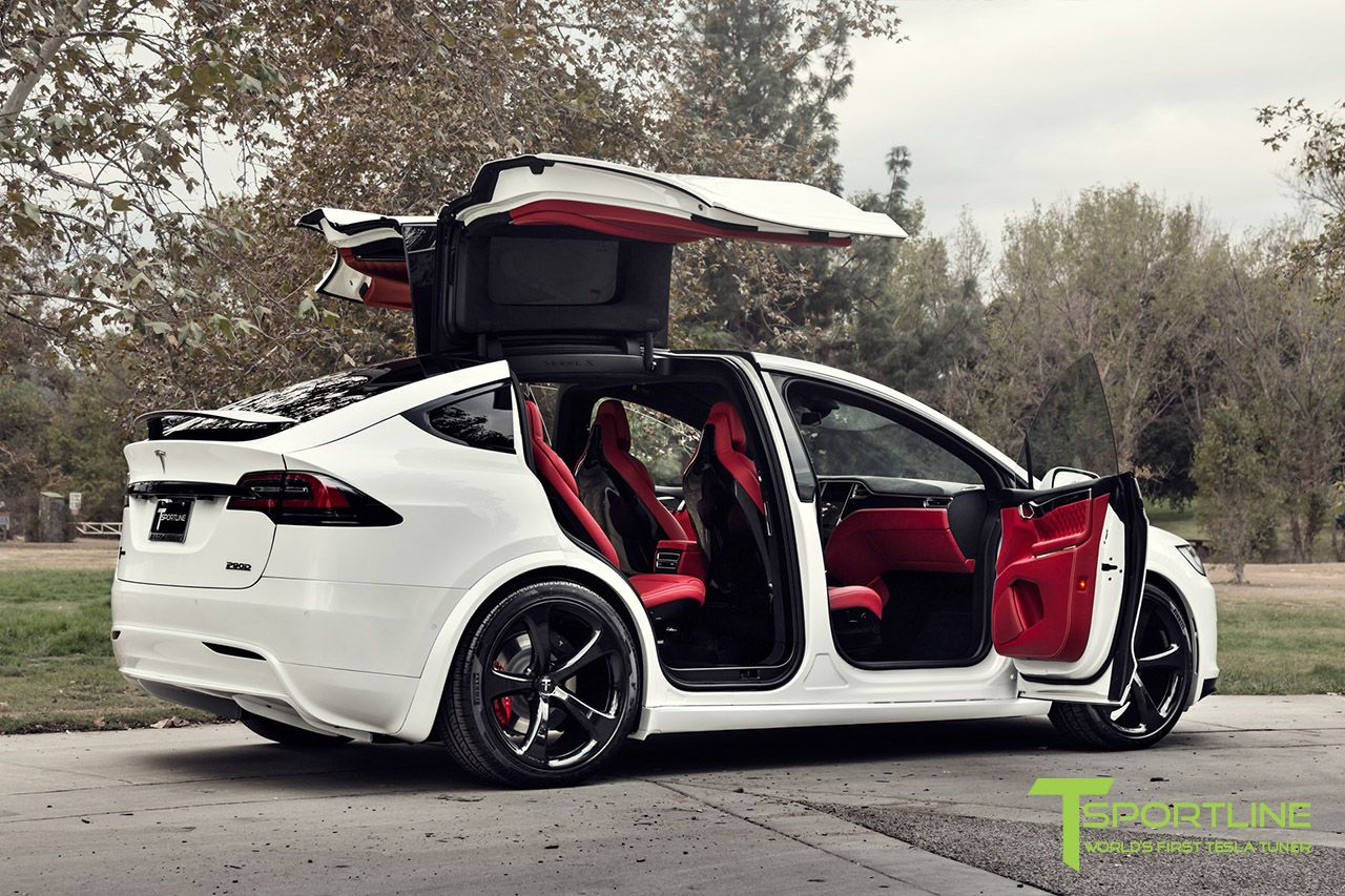 Luxury Vehicle: Custom Pearl White Tesla Model X With MX5 22 Inch Forged