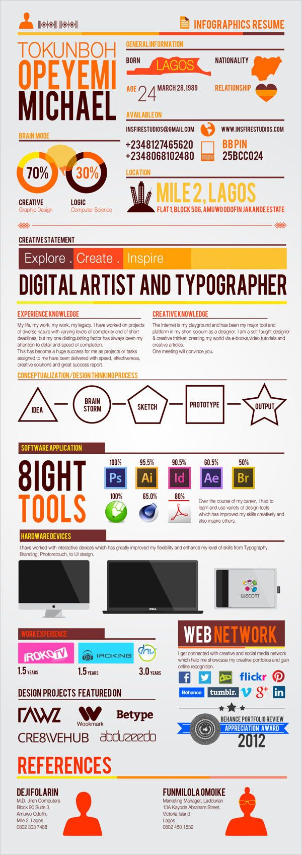 Simple Infographics Resume Some Really Interesting Examples