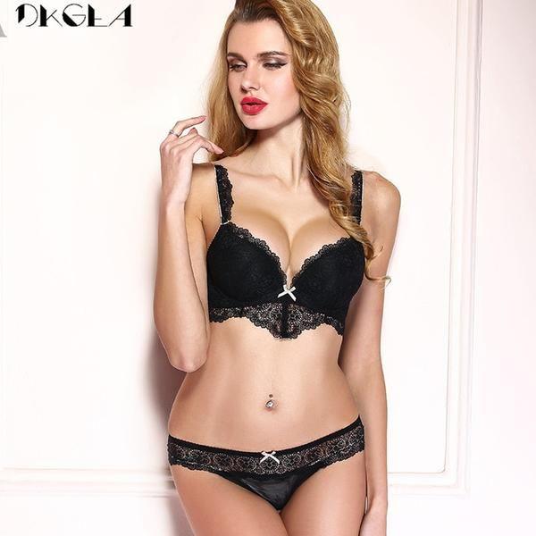 3ba5065dff  BestPrice  Fashion DKGEA Brand Hot Sexy Underwear Set Lace Brassiere Deep  V Push Up Bra Panties Set Cotton Thick…  Discounts  BestPrice