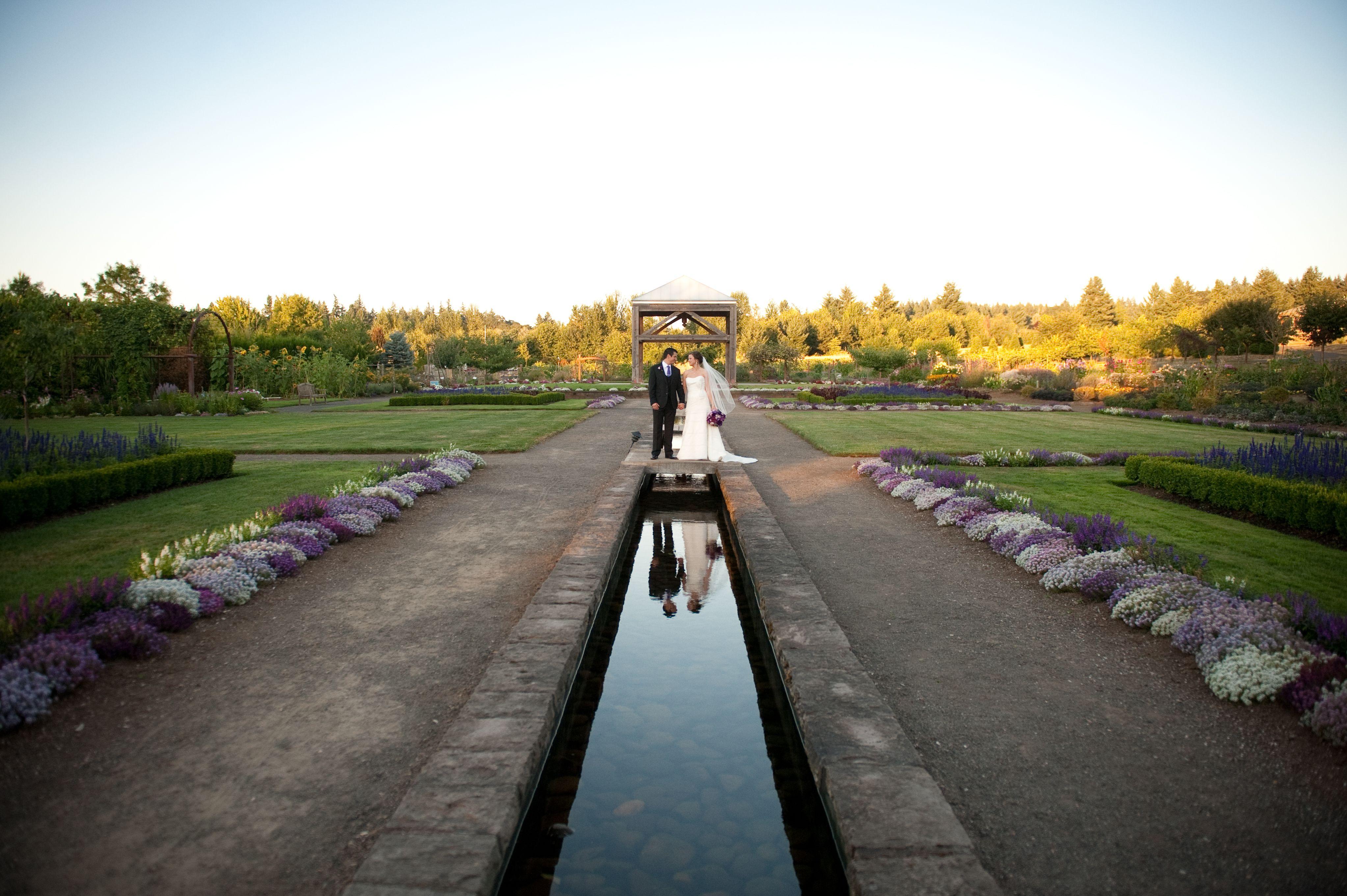 Beautiful Wedding Photo In The Market Garden At Oregon