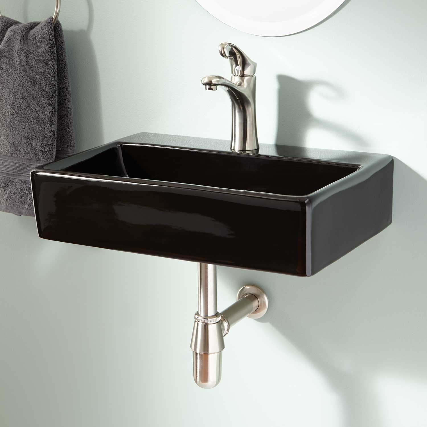 Rogge Wall Mount Bathroom Sink Bathroom Sink Decor Bathroom Sink Design Wall Mounted Bathroom Sinks
