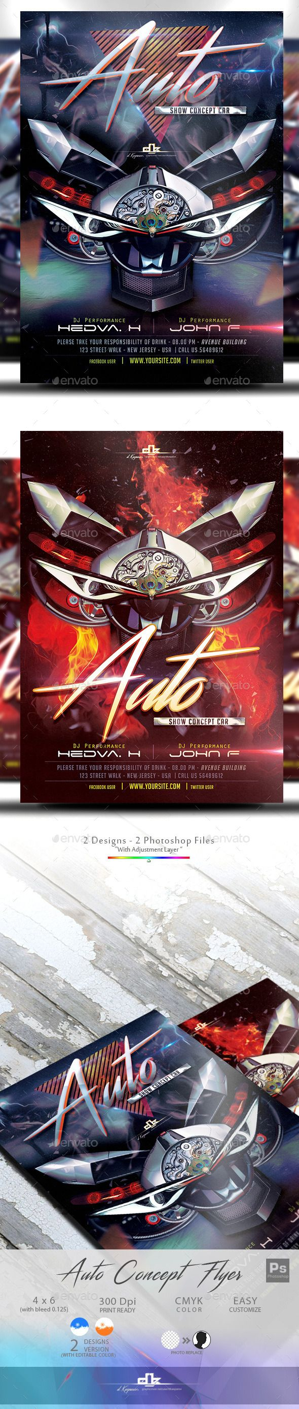 Show Flyer Template 2in1