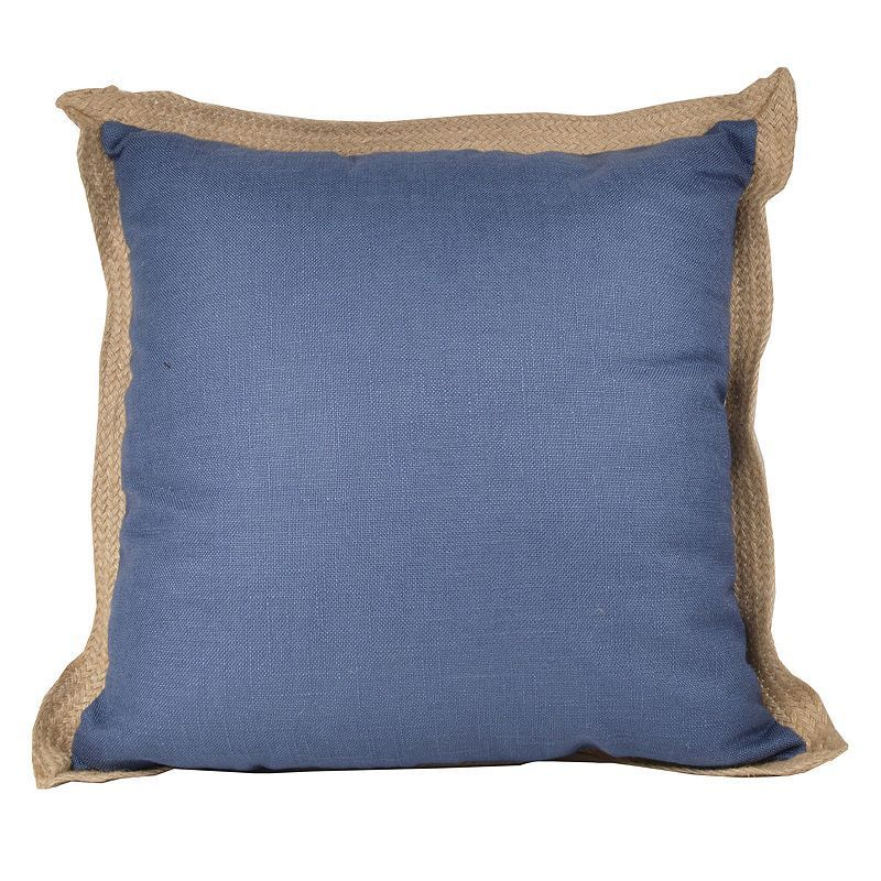 Jute Trim Throw Pillow,