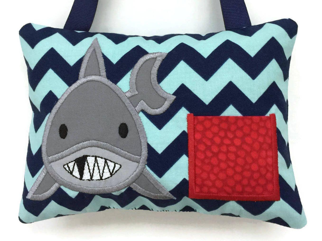 shark tooth fairy pillow boys tooth