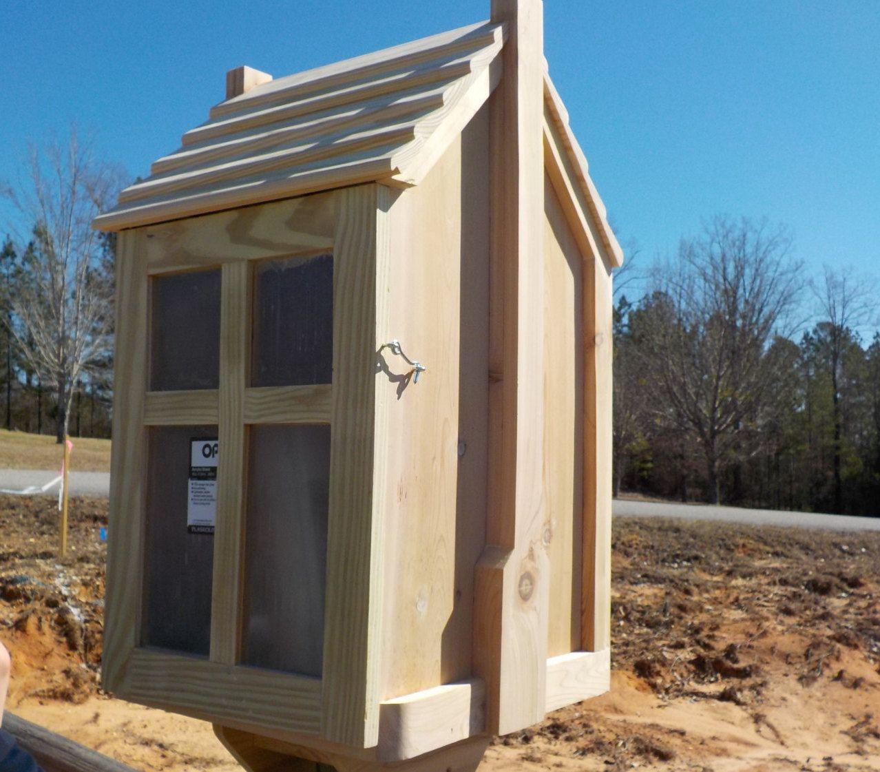 Chimney Style Little House On A Stick2 Shelf Fully Etsy Little House House Bird Houses Feeders