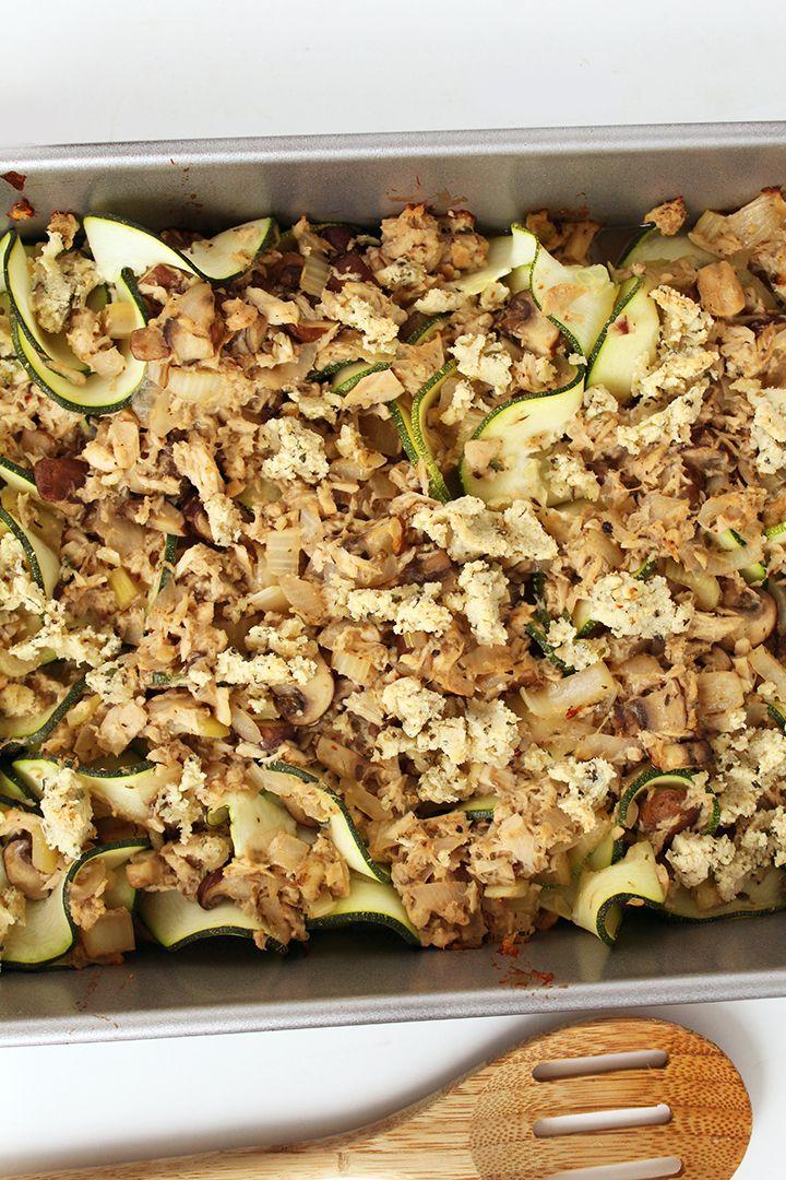 tuna zucchini noodle casserole | recipe | reduce recipe