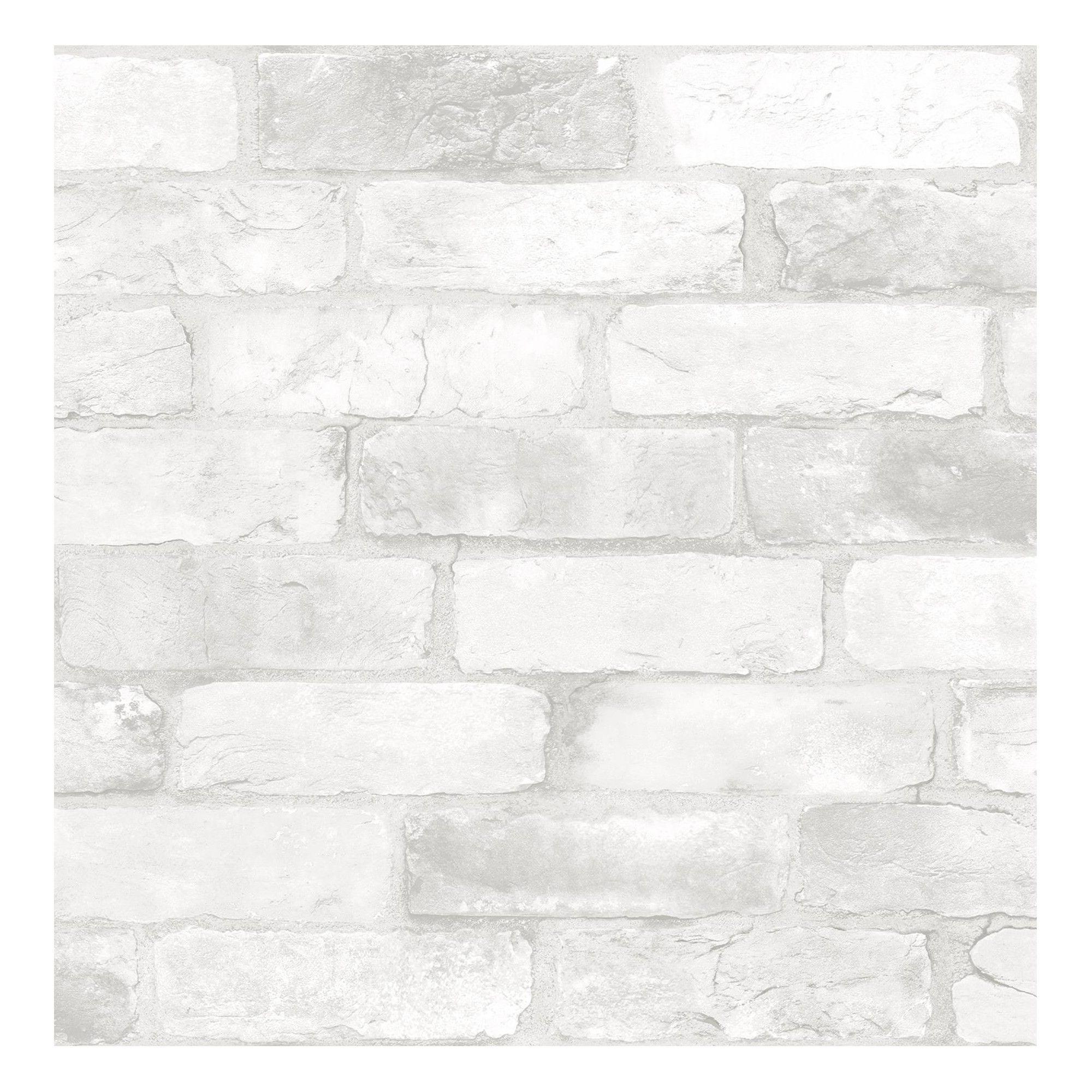 Brewster Loft Brick Peel Stick Wallpaper White White Brick Wallpaper Brick Wallpaper Roll Rustic Wallpaper