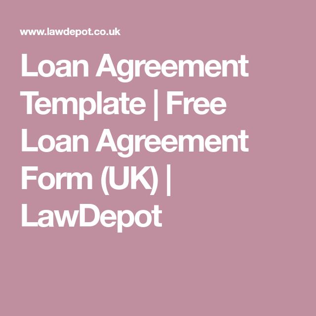 Free Loan Agreement Form Template Unique Loan Agreement Template  Free Loan Agreement Form Uk  Lawdepot .