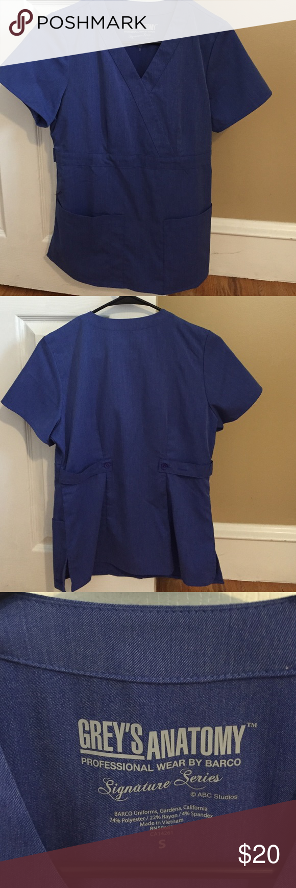 Greys Anatomy Scrub Top | Greys anatomy scrubs, Scrub tops and Times