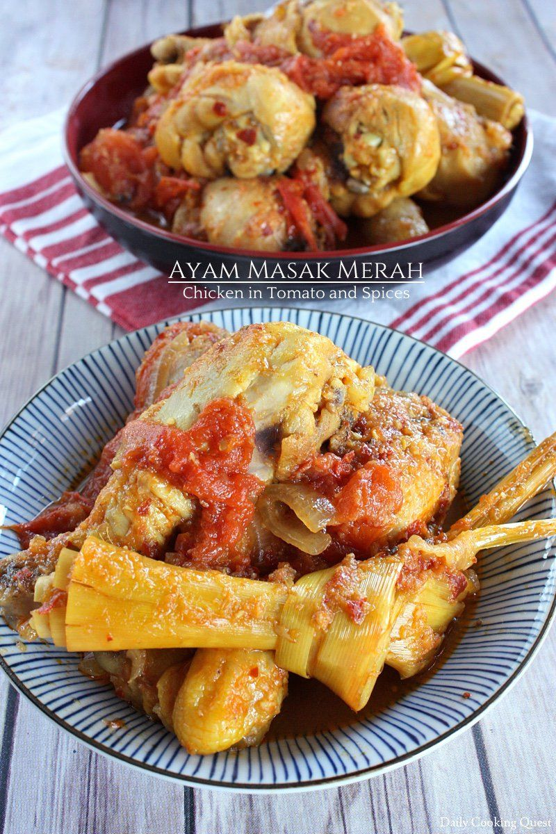 Ayam Masak Merah Chicken In Tomato And Spices Recipe Pinterest Rica White Rice Dishes