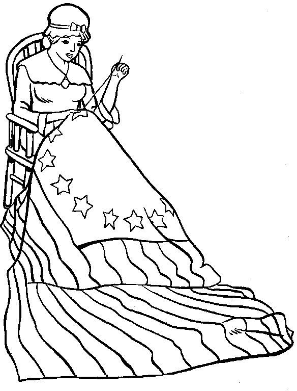 betsy ross flag coloring page |advanced coloring pages,difficult ...