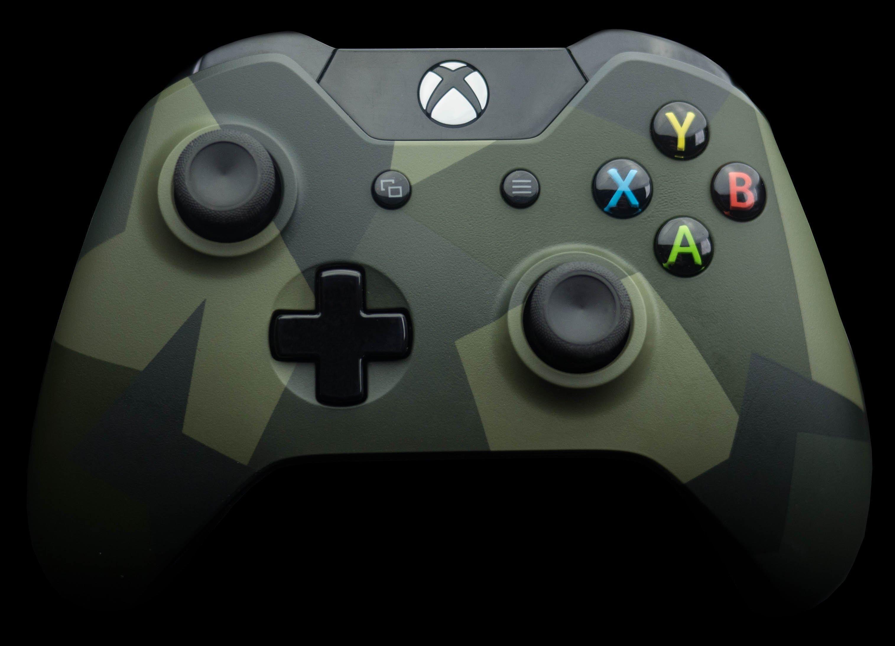 Xbox One Green Camo Wireless Controller in 2020 Xbox one
