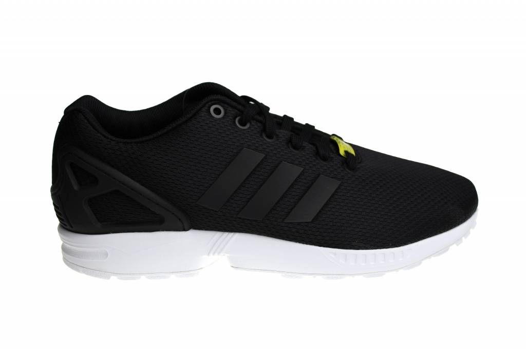 Adidas zx flujo k voor meisjes en jongens, in het Zwart met Wit