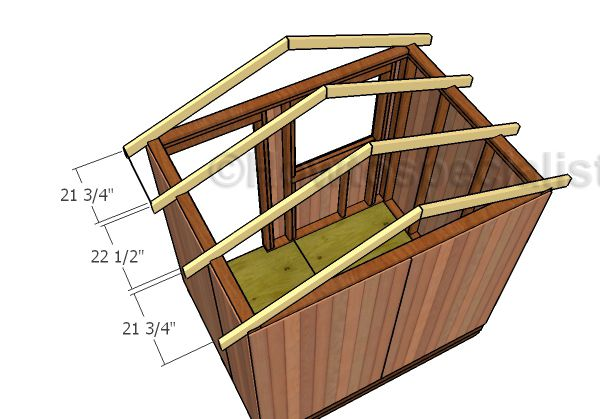 6x8 Garden Shed Roof Plans Howtospecialist How To Build Step By Step Diy Plans Small Shed Plans Diy Shed Plans Roof Plan