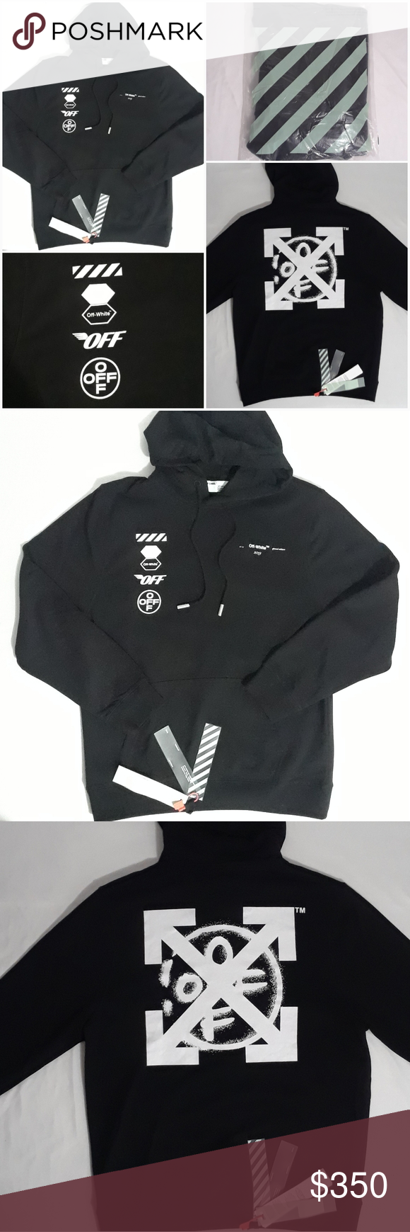 Sale Off White Arrows Hoodie Sweatshirt Black Brand New With Tags Includes Official Off Whi White Sweatshirt Hoodie Black Hoodie Black Sweatshirt Hoodie