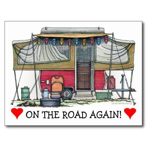 Cute RV Vintage Popup Camper Travel Trailer Post Cards http://www.zazzle.com/cute_rv_vintage_popup_camper_travel_trailer_postcard-239965930233374930?rf=238312613581490875