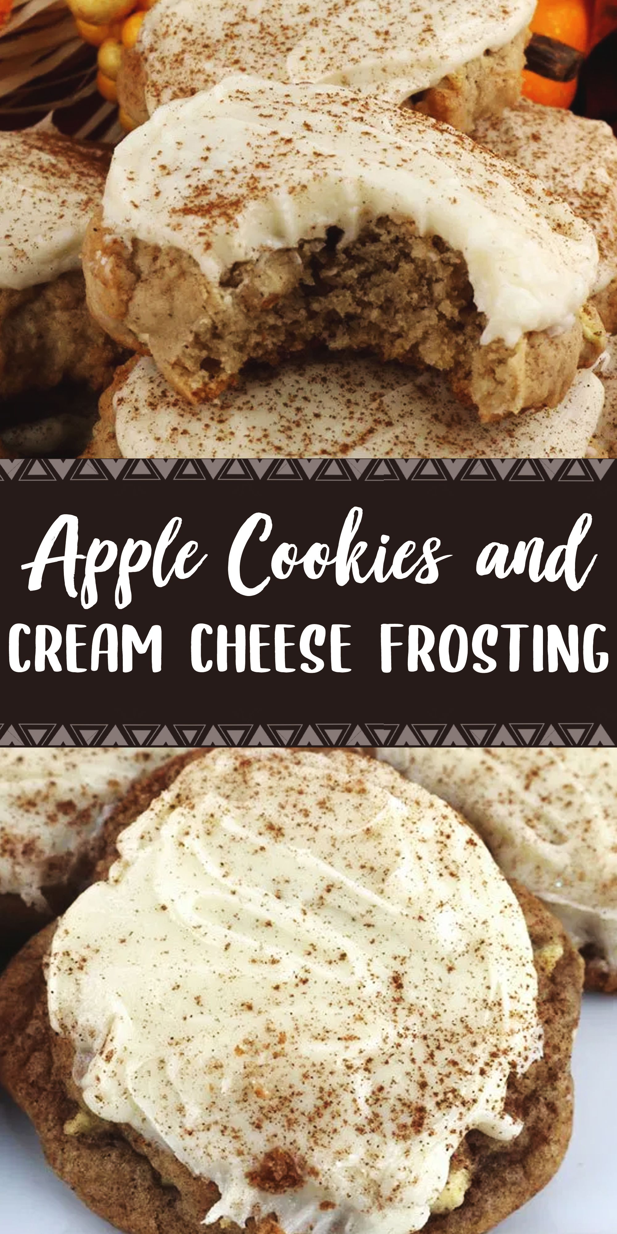 APPLE COOKIES AND CREAM CHEESE FROSTING #oreofrosting