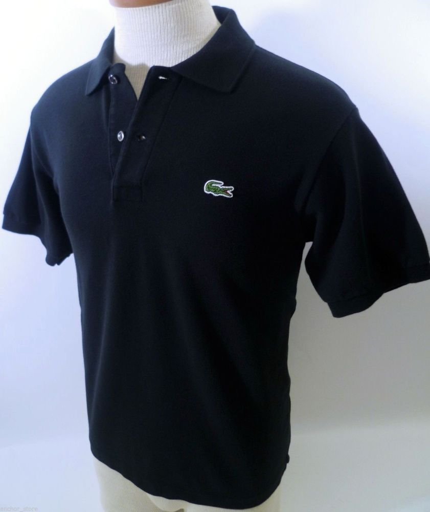 99a072a8 LACOSTE BLACK #POLO #SHIRT Size 4 Small S 5191L Pique Knit Cotton ...