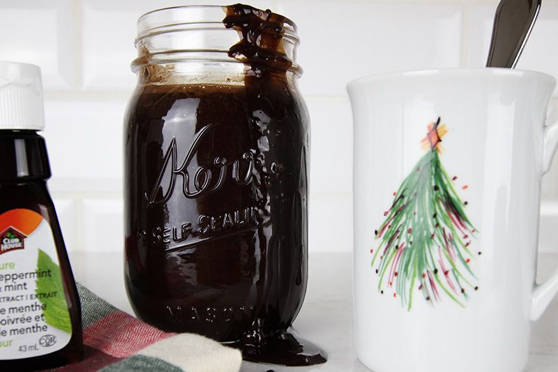 Slow Cooker Chocolate Peppermint Syrup Peppermint syrup