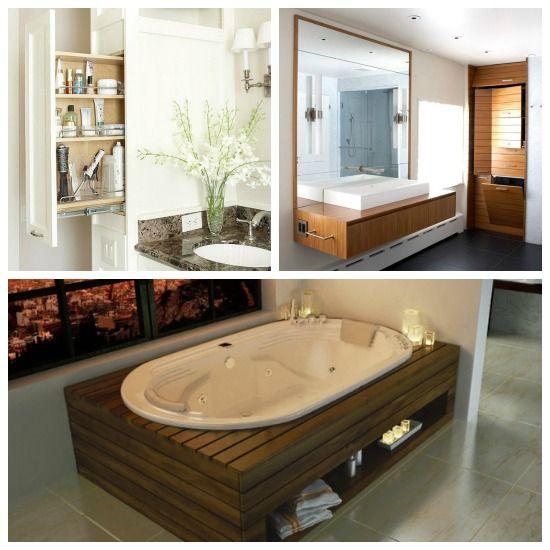 Optimiza el espacio de tu #baño con creatividad. Los ...