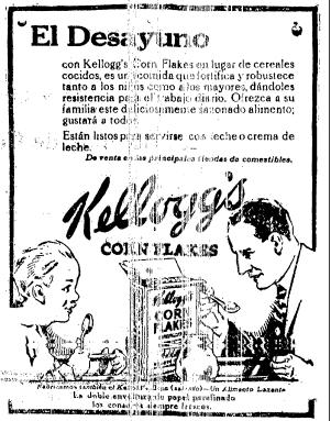 1924 - Anuncio de Corn Flakes Anuncio publicado en el Informador Guadalajara, Jalisco México