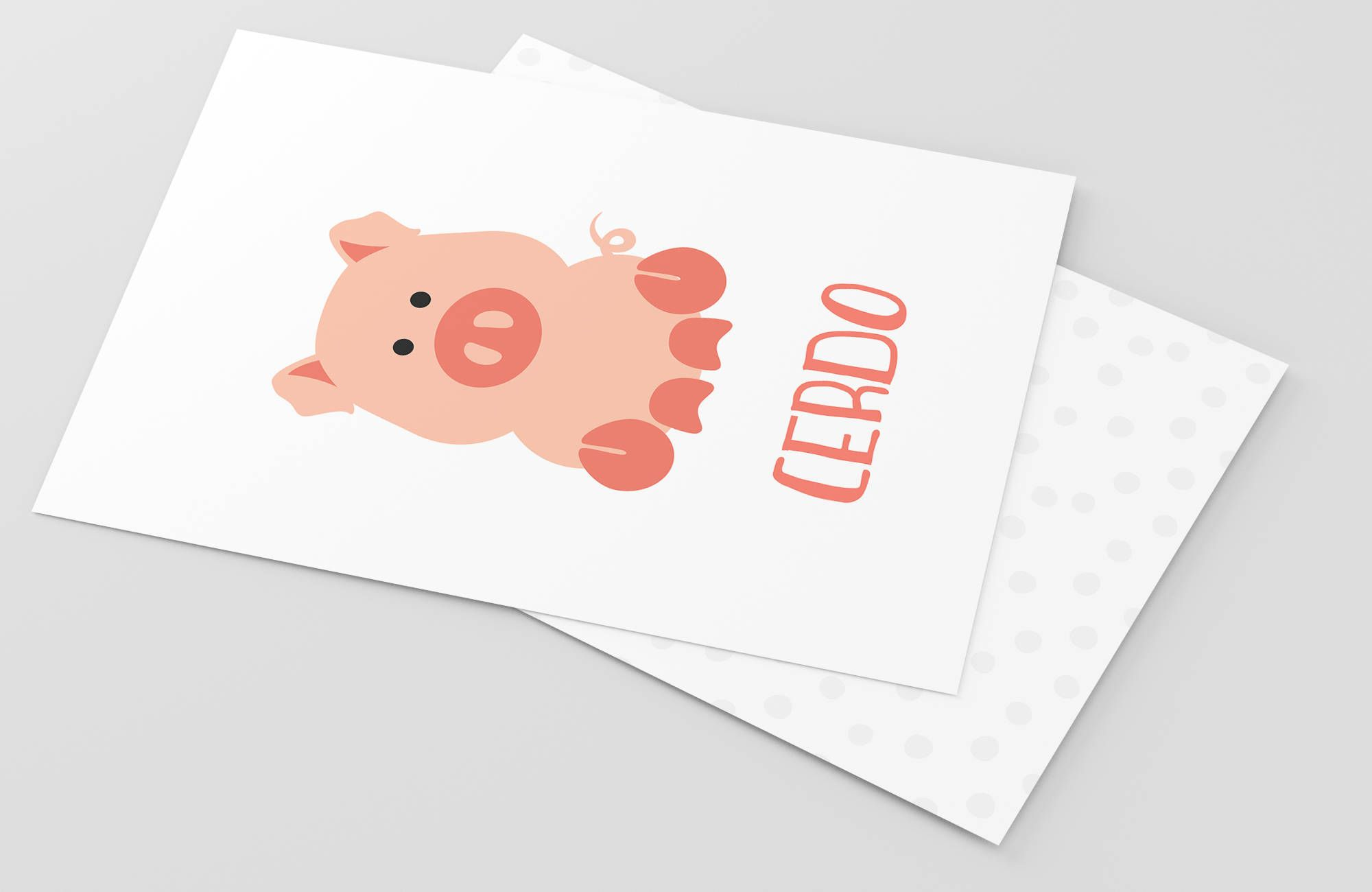 Spanish Farm Animal Flashcards