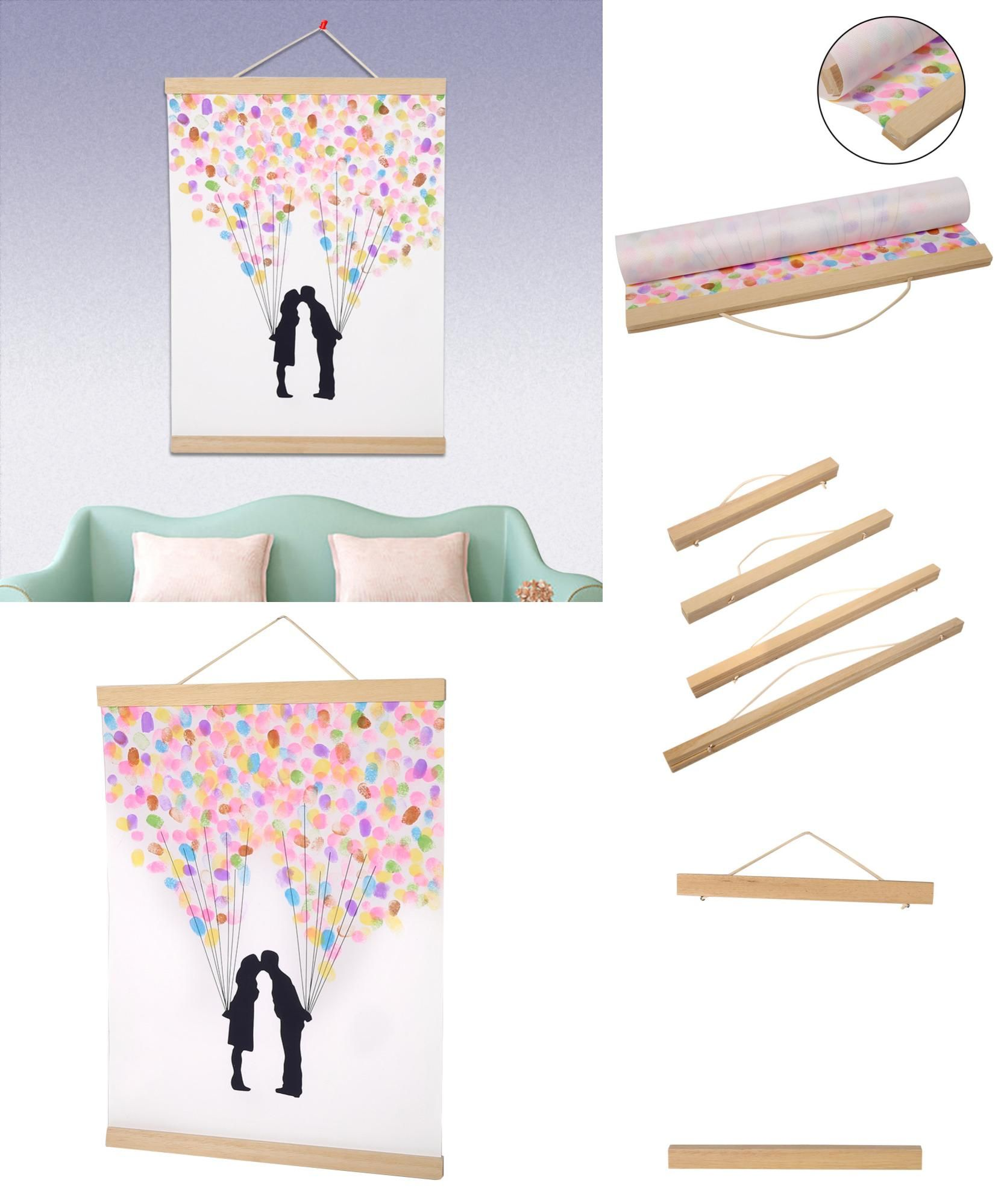 A3 A4 Magnet Wooden Picture Frame DIY Photo Poster Hanger Wall Art Decor