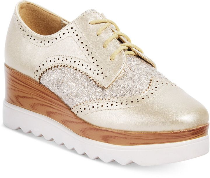 575888fd2f2 Wanted Gallaway Platform Oxfords Women s Shoes