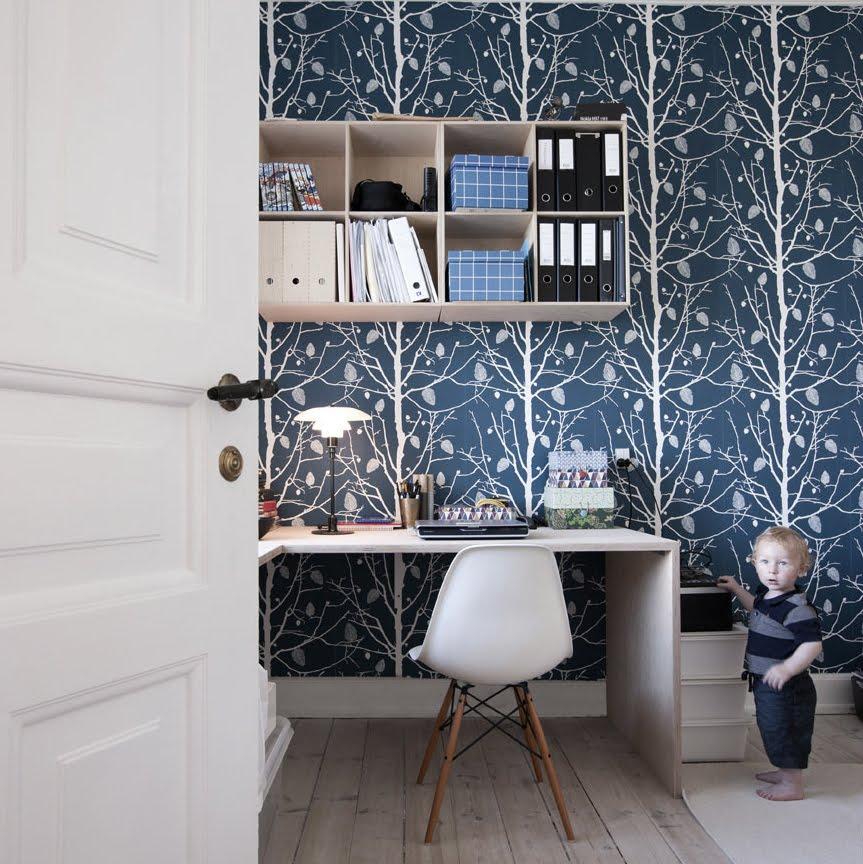Basement Ferm Living Interior Family Tree Wallpaper
