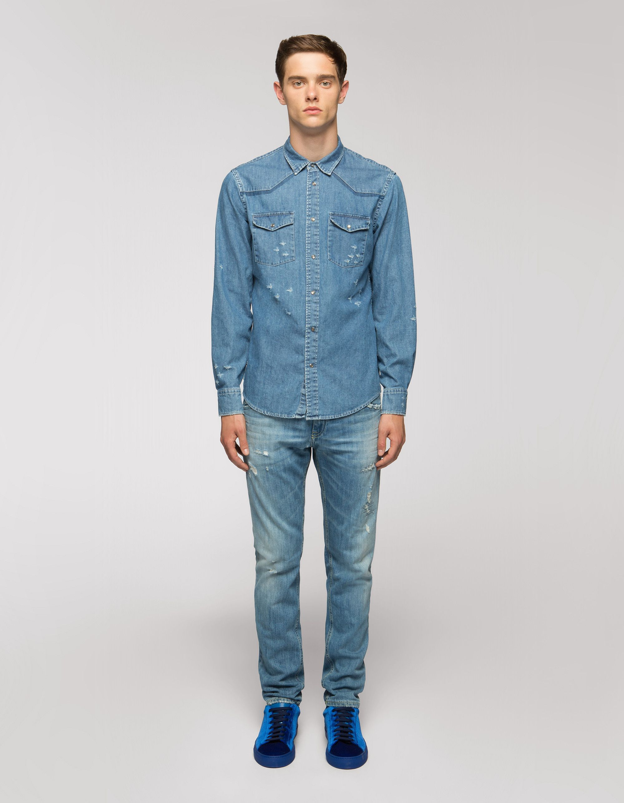 Denim shirt man fall winter collection urban explorers