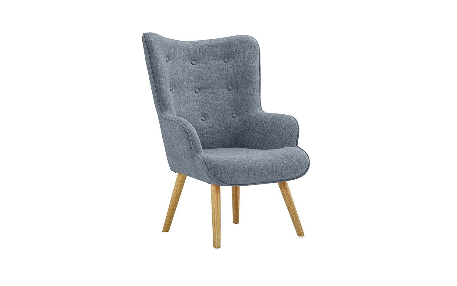 Outstanding Accent Chair For Living Room Upholstered Linen Arm Chairs Ibusinesslaw Wood Chair Design Ideas Ibusinesslaworg