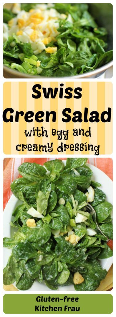 Swiss Green Salad (Nüsslisalat) with Creamy Dressing and Chopped Egg