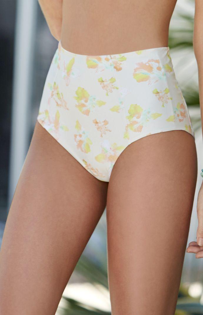 Pacsun I Gillia Brittney Floral Print High Waisted Bikini Bottom 0e8f84afe086