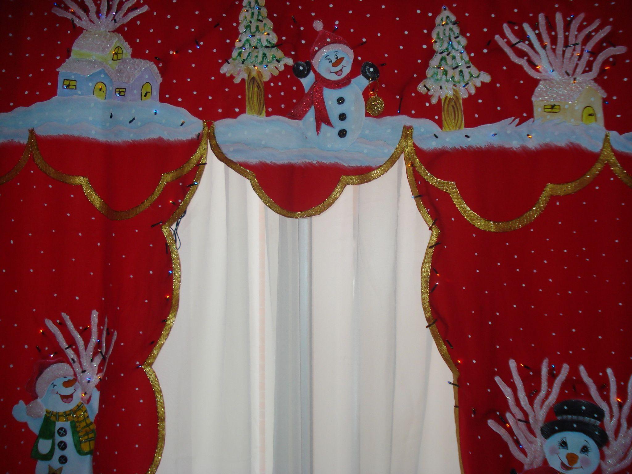 Cenefa pintada a mano en tercera dimension con luces for Cortinas con luces