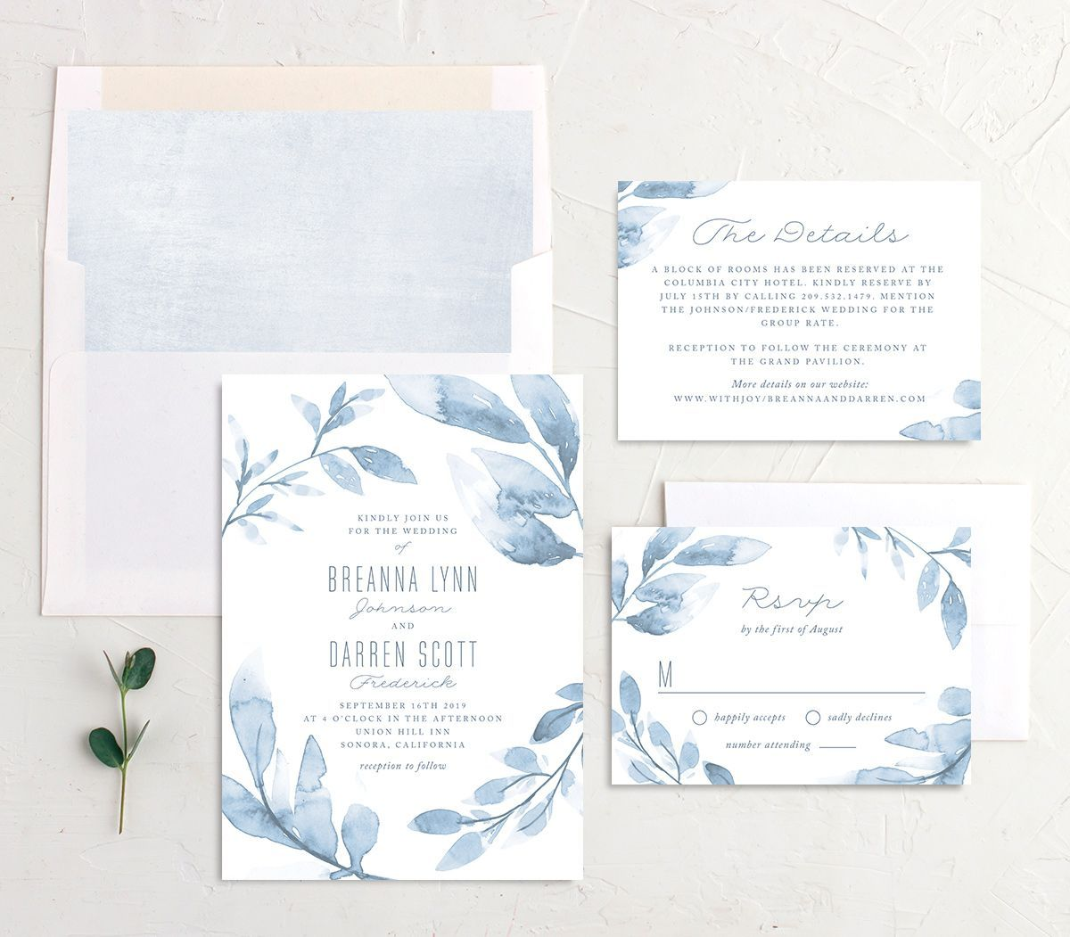 Painted Leaves Wedding Invitations The Knot In 2020 Wedding Invitations Wedding Invitations Leaves Wedding Leaves