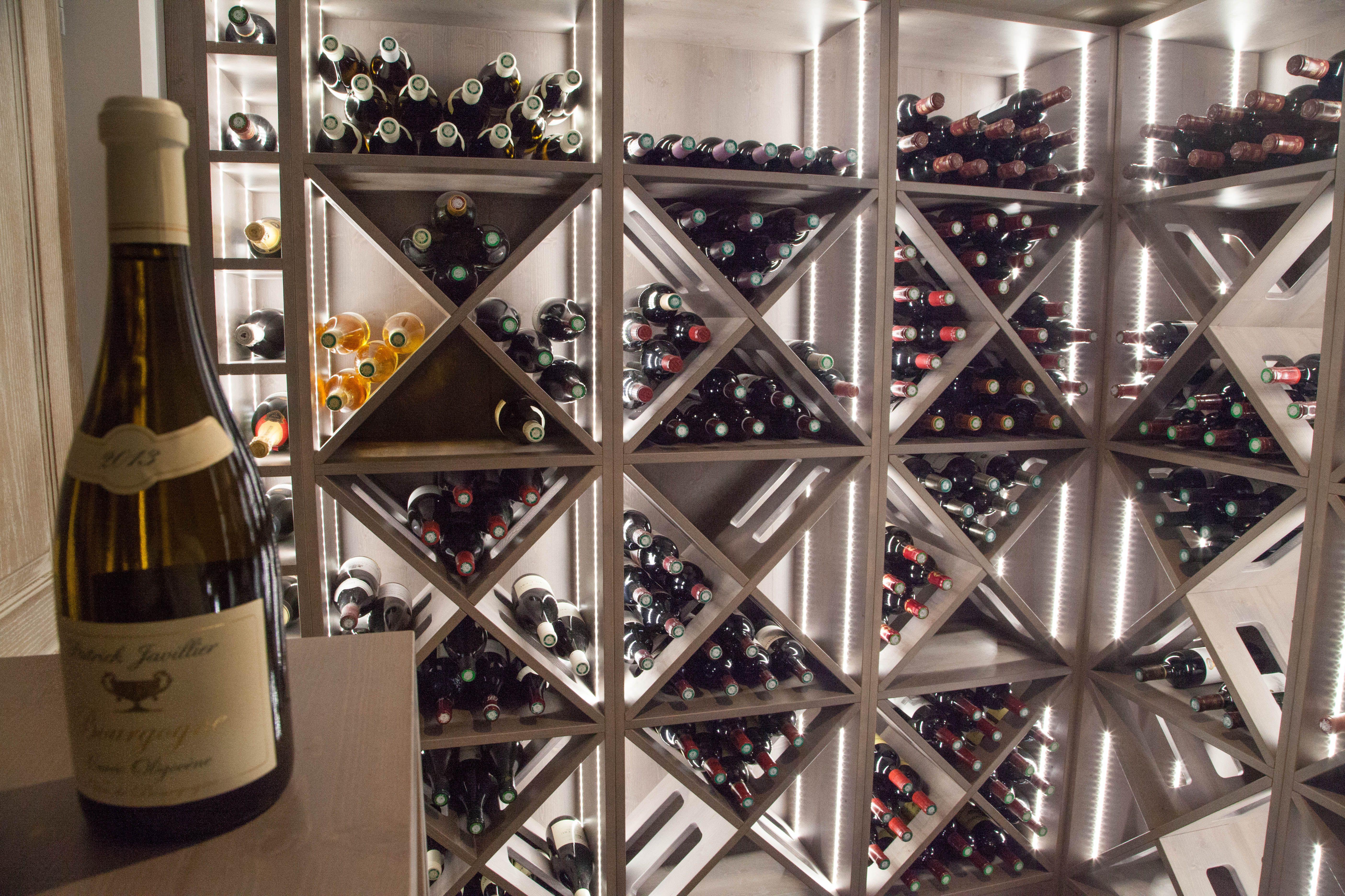 Cave A Vin Sur Mesure Wine Cellar Custom Made Projet Maison