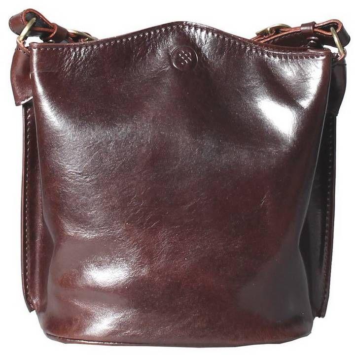 Maxwell Scott Bags Luxury Italian Leather Women S Tote Bucket Bag Palermo Chocolate Brown