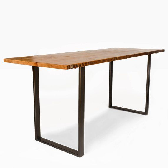 Counter Height Or Bar Dining Table Made With Reclaimed Wood And Steel U Shaped Legs In Your C