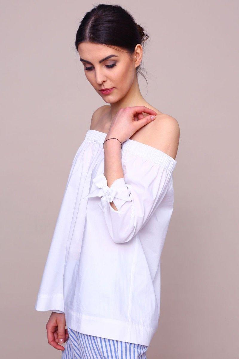 3d07c101 Bluzka Hiszpanka 2 - biały | Spring / Wiosna 2017 w BLUE SHADOW ...
