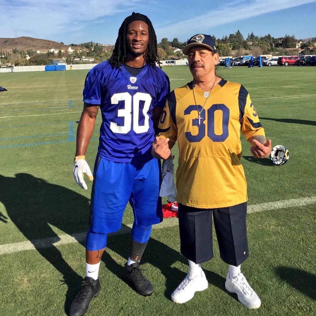 Danny Trejo With Todd Gurley Todd Gurley St Louis Rams La Rams