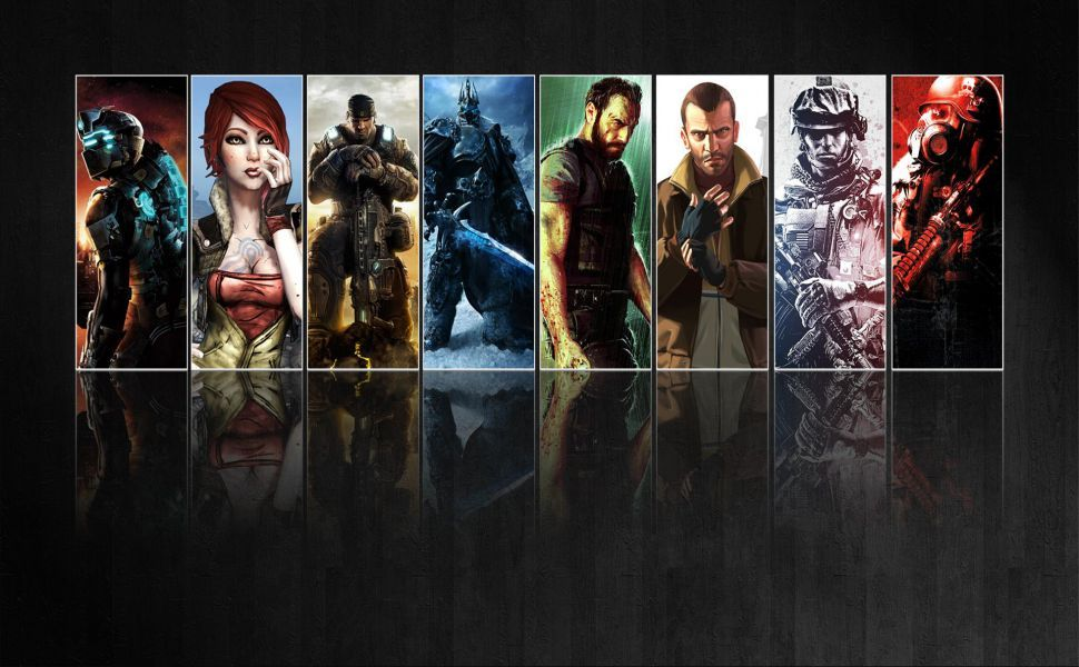 Video Game Collage Hd Wallpaper Collage Online Illustrations And Posters Retro Games Wallpaper