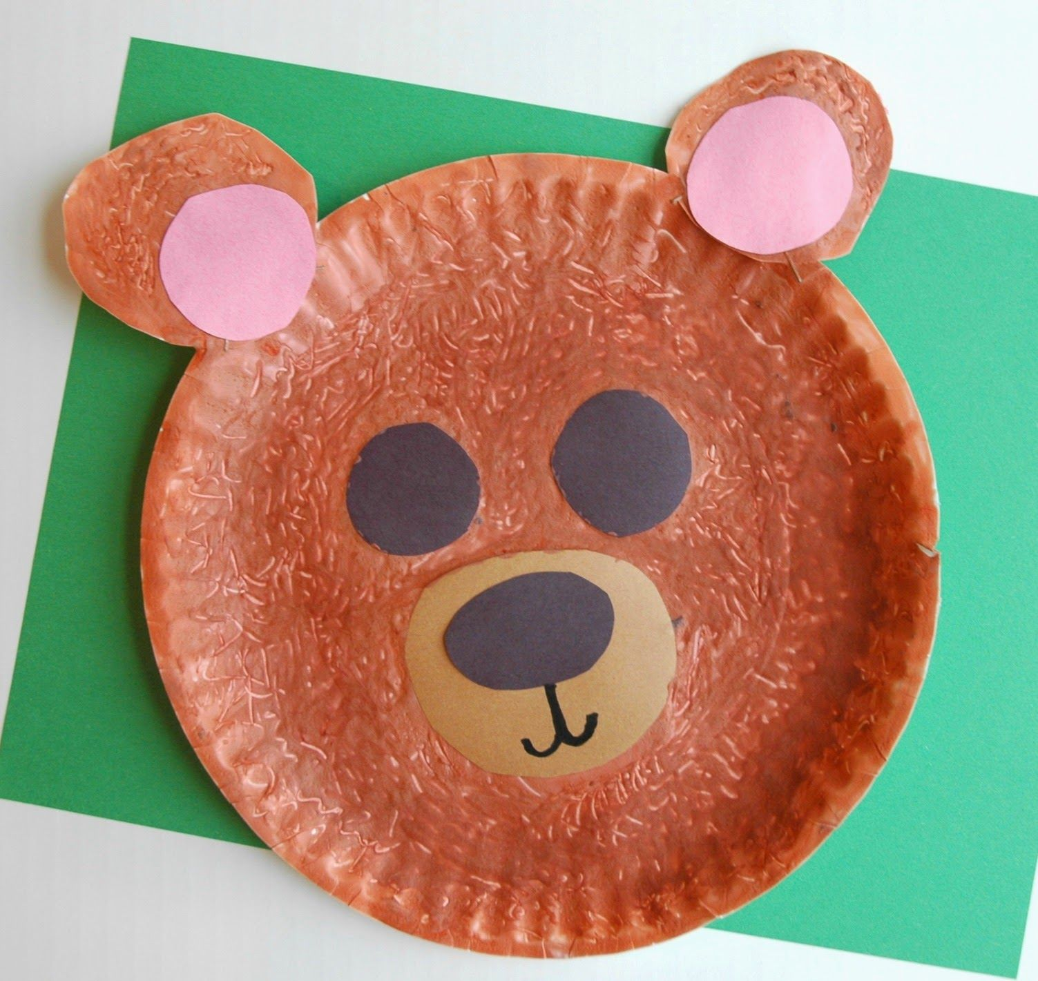 March arts and crafts - Fuzzy Brown Bear Craft