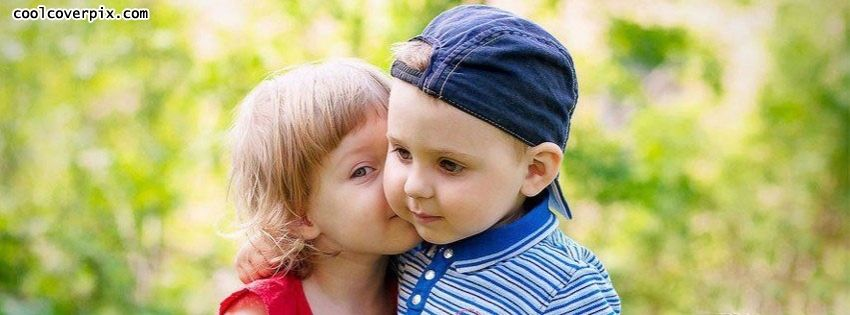 Cute Baby Couple Fb Cover Photo Sweet Boy In Blue Shirt With Hat And