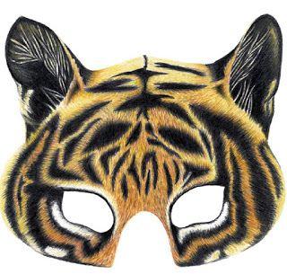 Mascara De Tigre Y Mas Recortables Para Ninos Envoltorios Regalos
